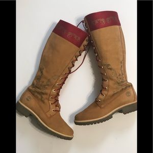 Timberlands tall leather boots